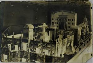 דגם בית המקדש בישיבת חכמי לובלין